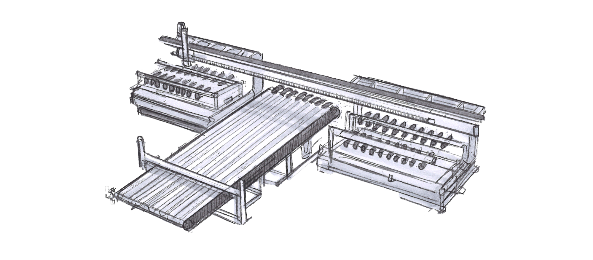 Metal Sheet Handling, Blank Destacking System, Board Stack, Swivel Arms, Press Line, Automatic Feed | © Güdel Group AG